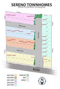Sereno Townhomes Subdivision Map