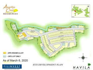 Amarilyo Crest Residencess Site Development Plan