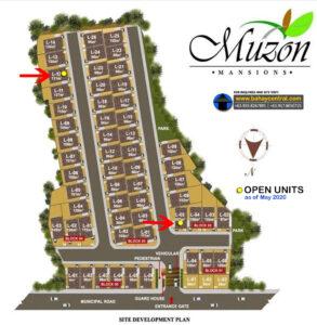 Muzon Mansions Subdivision Map