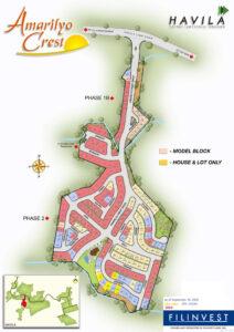 Amarilyo Crest Subdivision Map