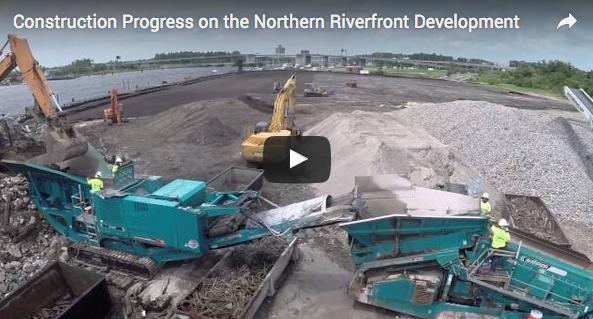 Video – Northern Riverfront Marina & Hotel Construction
