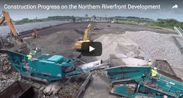 Video – Northern Riverfront Marina & Hotel Construction