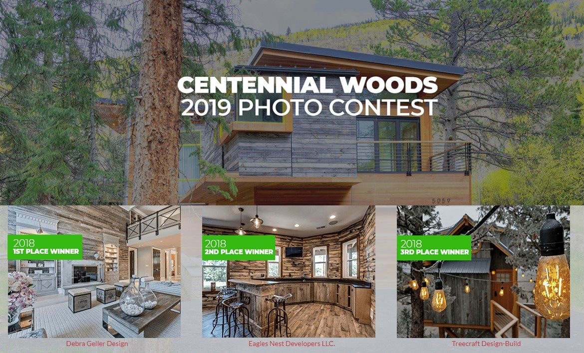 photo contest for Centennial Woods customers showing top winners from 2018.