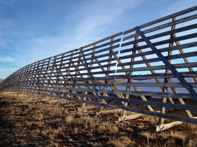 Wyoming Wood Snow Fences
