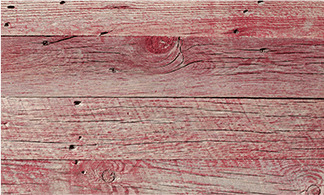 Reclaimed red barn wood.