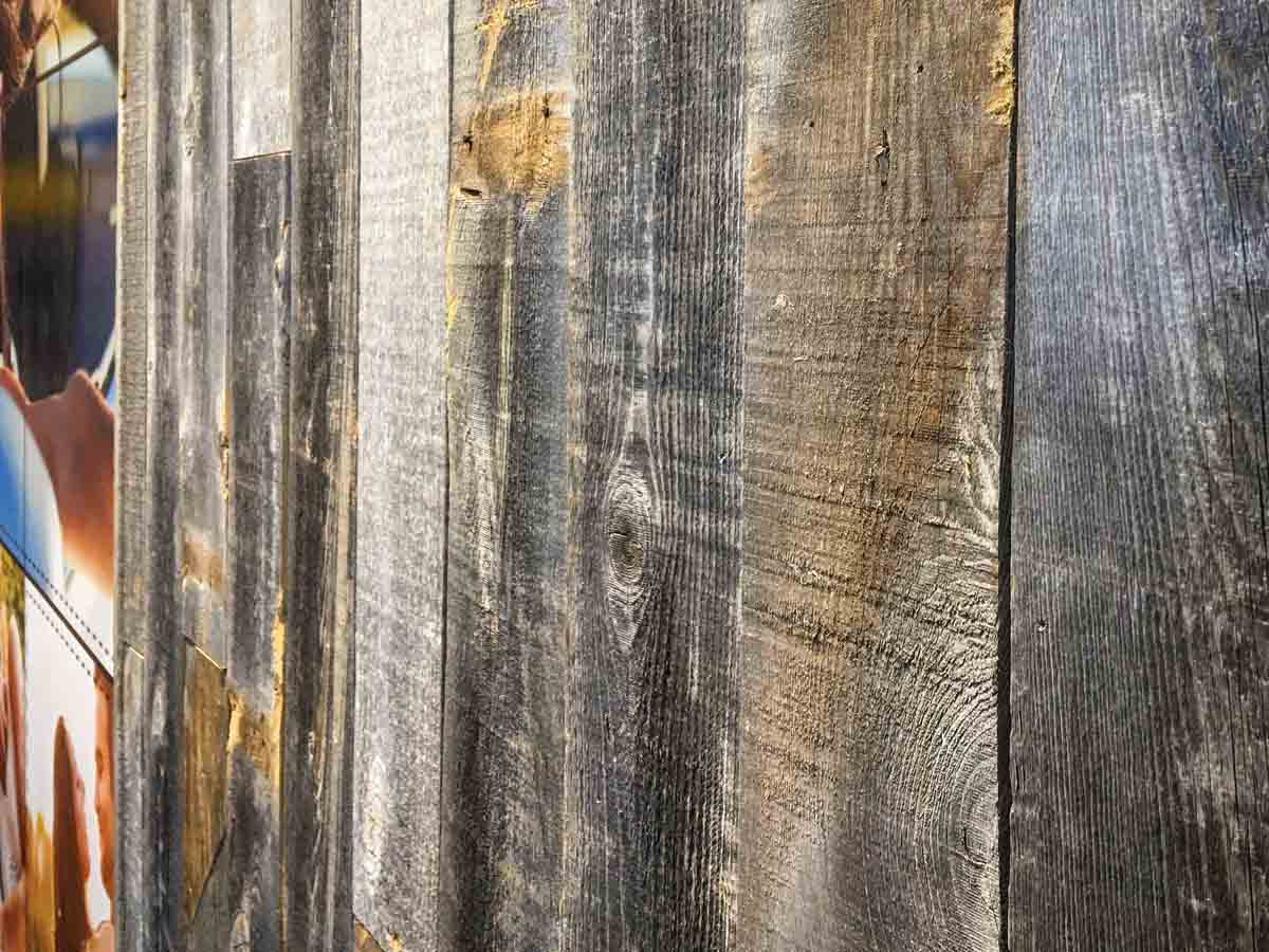 Deep grain and colors on Centennial Woods' reclaimed wood planks.
