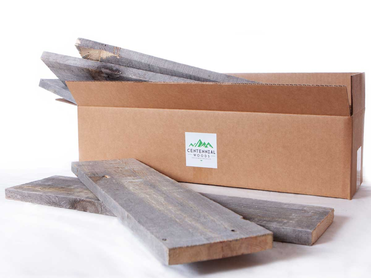 Reclaimed wood planks for crafts and DIY projects from Centennial Woods