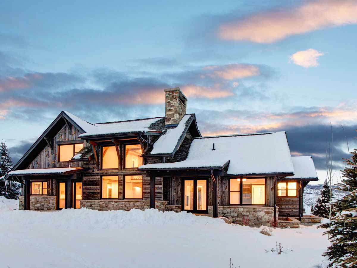 Ski house in Park City, UT with reclaimed wood facade by Centennial Woods.