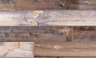 reclaimed wood in brown and grey