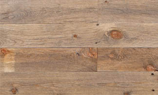 Reclaimed wood in light brown.