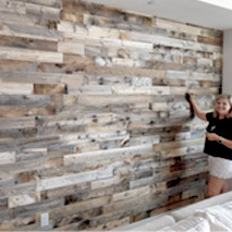 Reclaimed wood for DIY projects in homes or small businesses.
