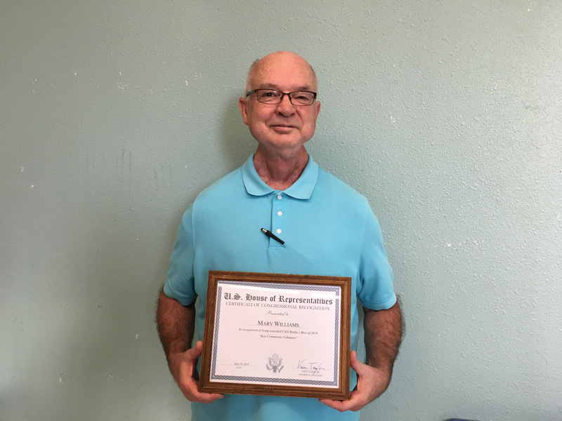 Marv Williams Receives Recognition
