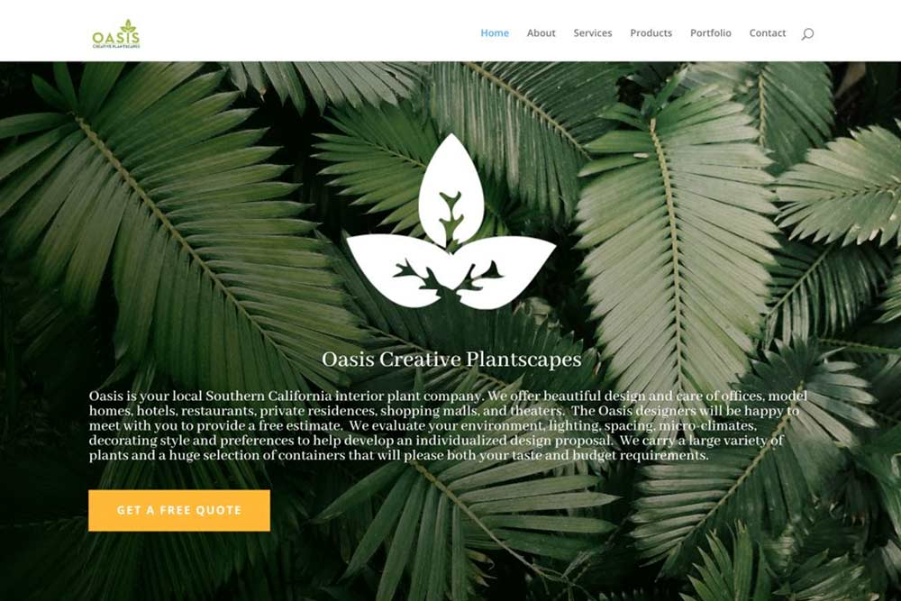 Oasis Plants Website