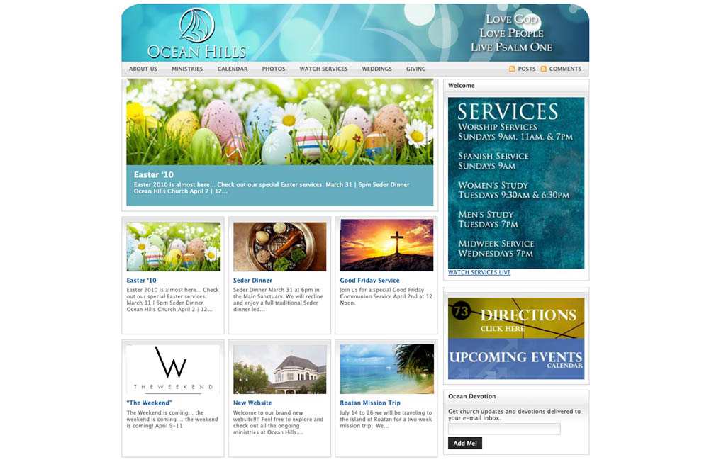 Ocean Hills Church Website