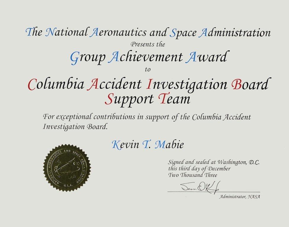 NASA Group Achievement Award