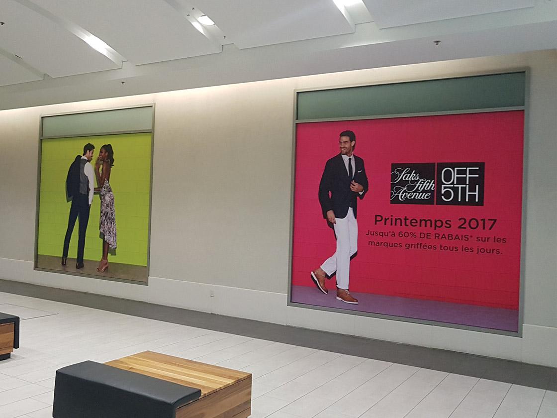 Affichage intérieur pour centre commercial