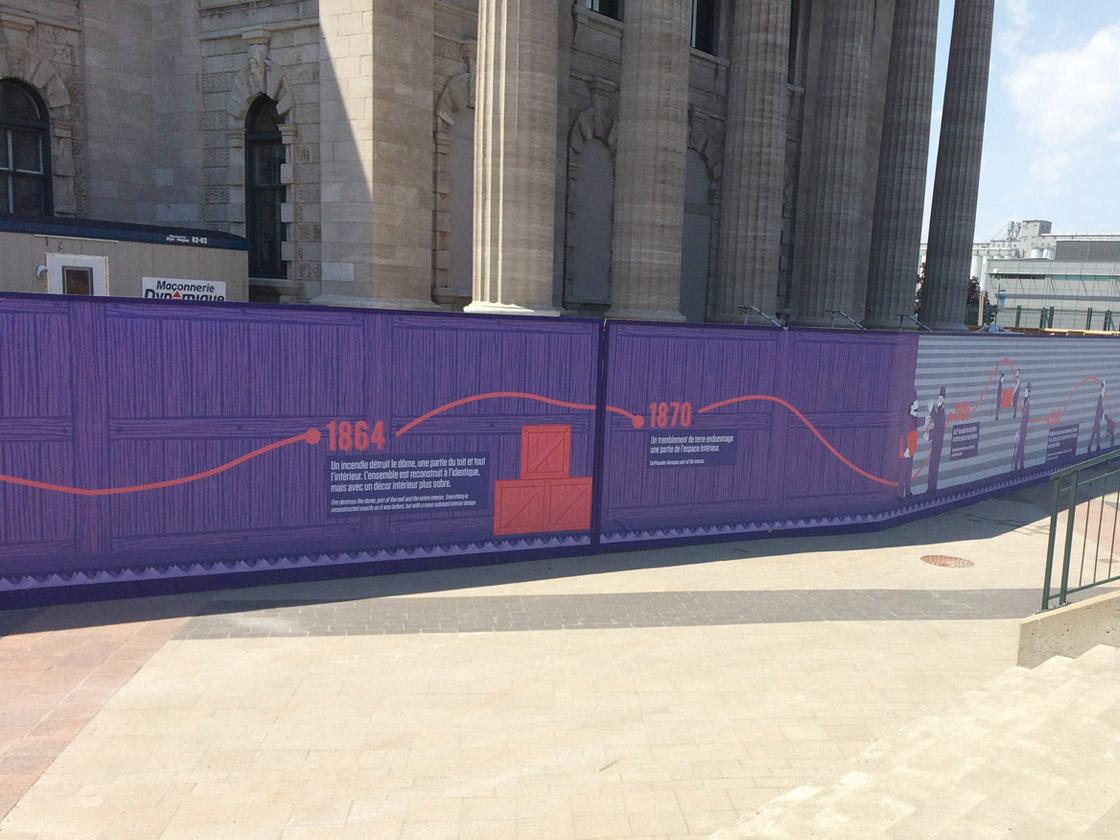 Impression numérique murale pour extérieur