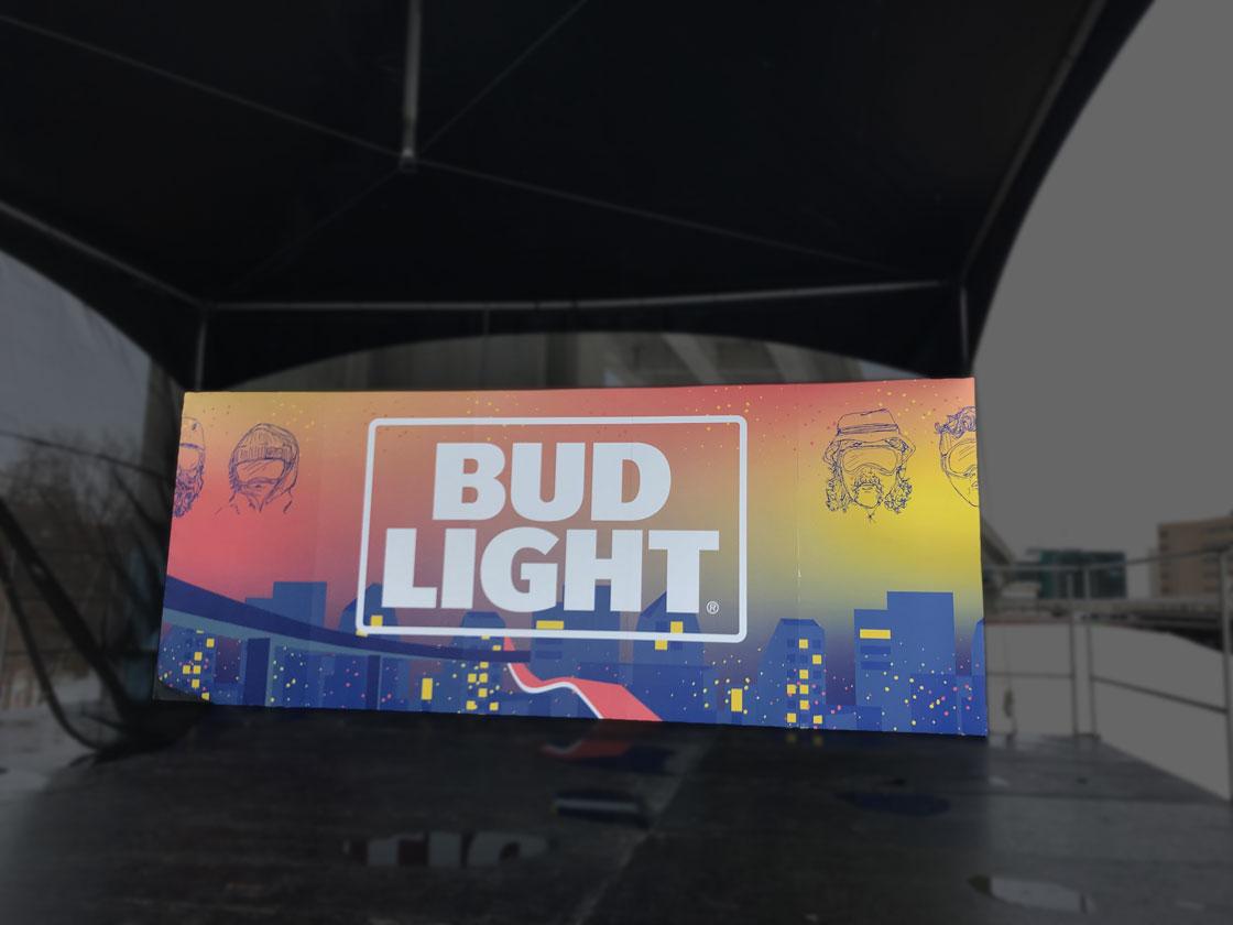 Impression numérique de bannières d'extérieur pour événement