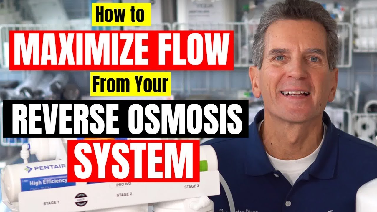 how to maximize flow ro system