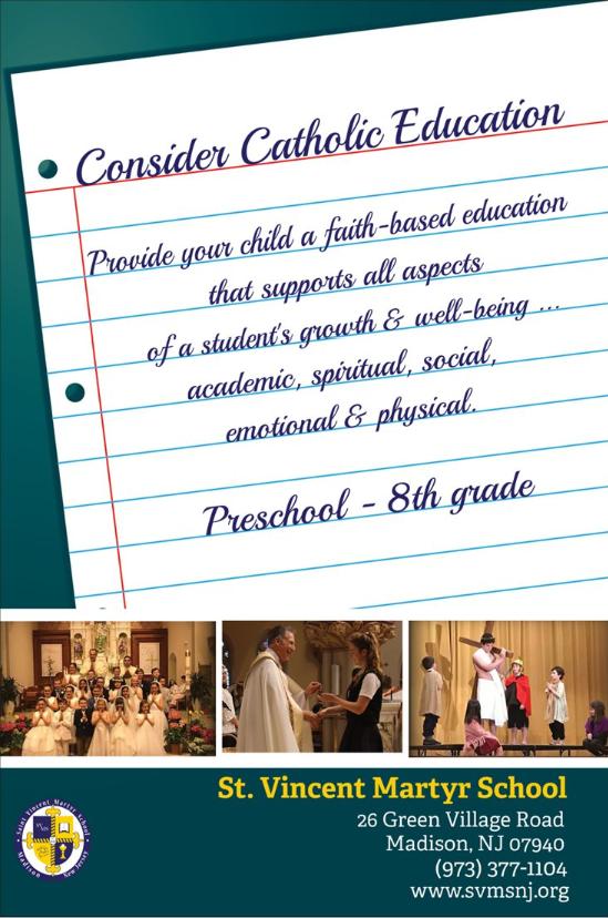 SVMS 2019 Consider Catholic Education