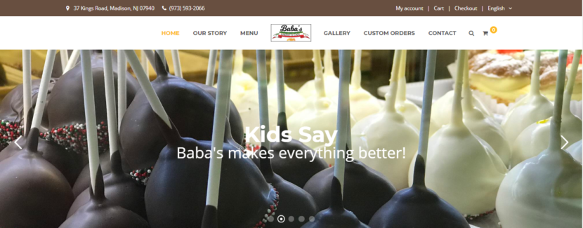 Baba's Bakery Website