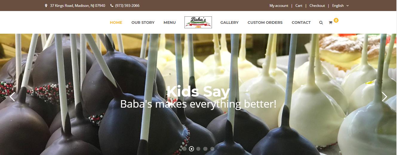 Baba's Bakery Website