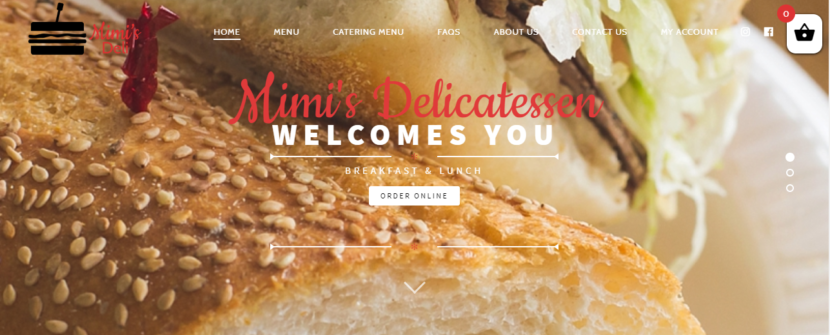 Mimi's Delicatessen Website