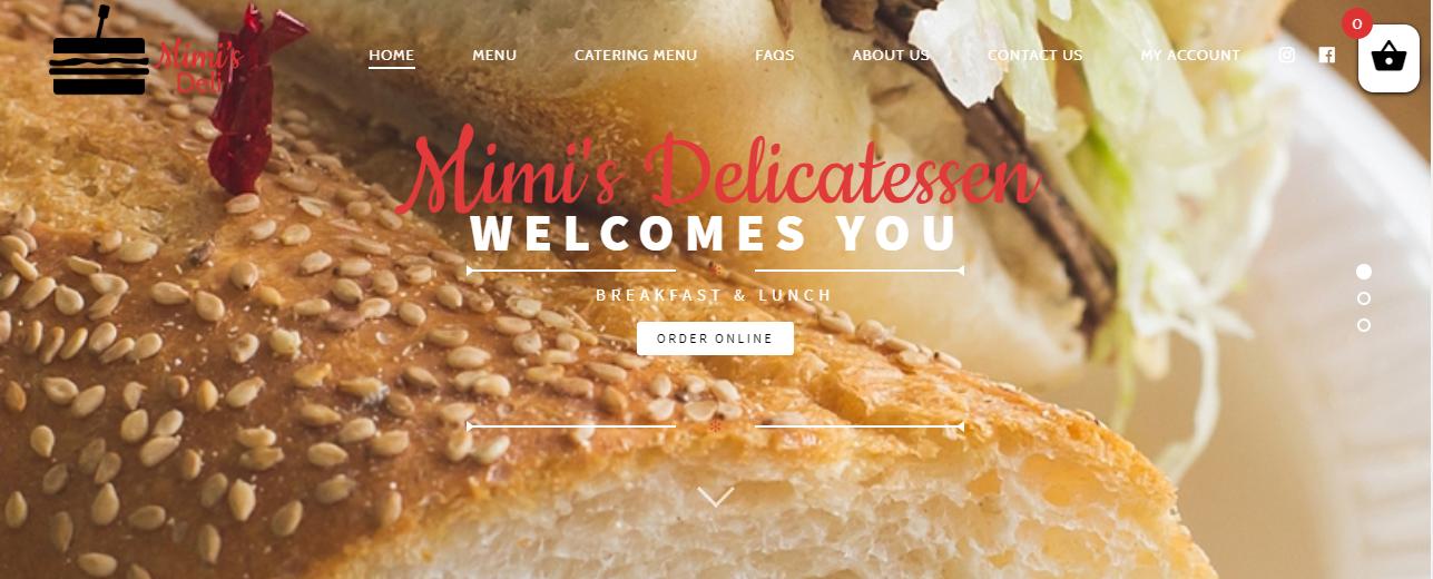 Mimi's Delicatessen Website
