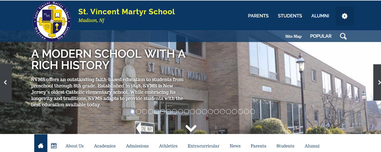 St. Vincent Martyr School Website