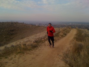 Running the Veteran's Trail in Eagle.