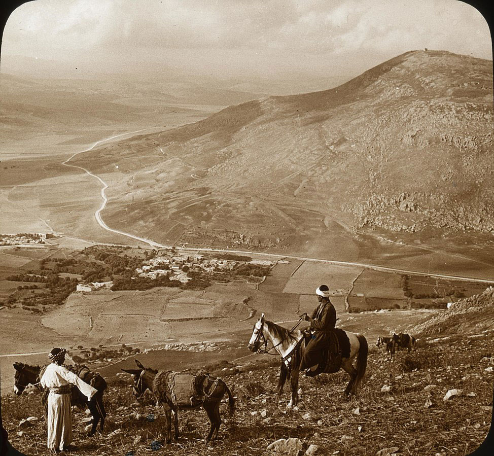 RDRD Bible Study Mount Gerizim from Mount Ebal circa 1915
