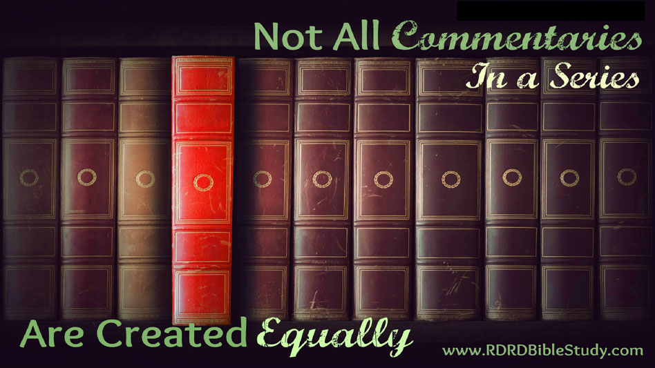 Not All Commentaries In A Series Are Created Equally