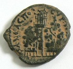 RDRD Bible Study Roman Coin Depicting Mount Gerizim and its Temple
