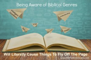 RDRD Bible Study Things Fly Off the Pages
