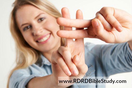 RDRD Bible Study Hashtag Fingers