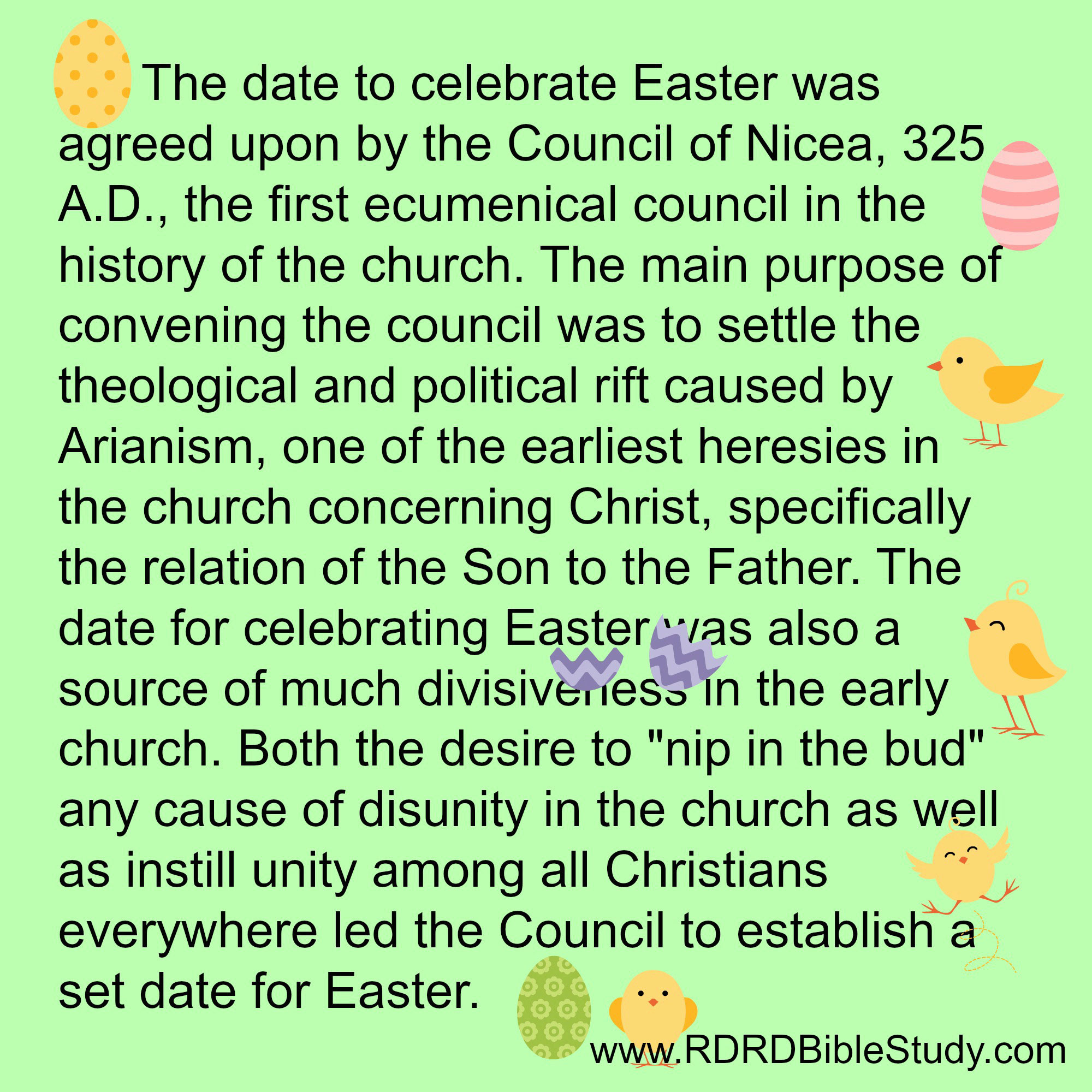 RDRD Bible Study When Easter Council of Nicaea