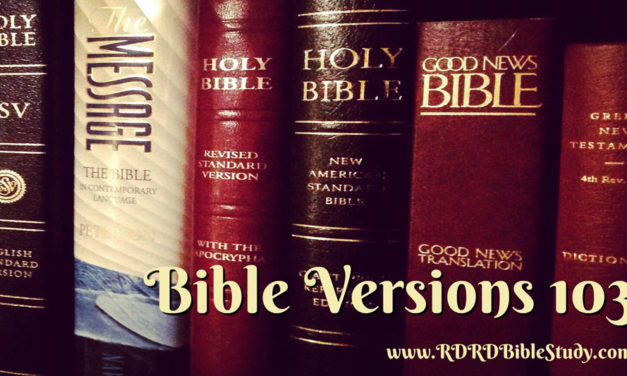 Bible Versions 103: Linguistics