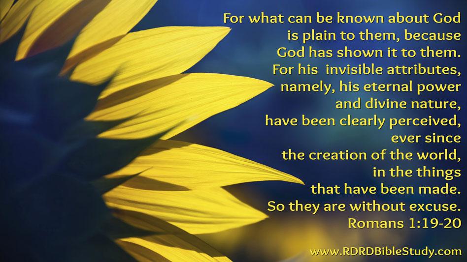 RDRD Bible Study Romans 1 19-20