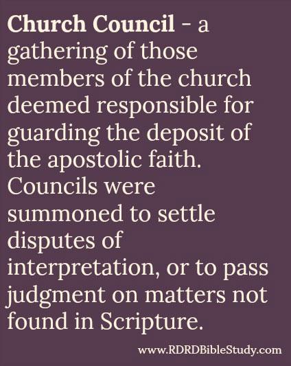 RDRD Bible Study Church Council Definition