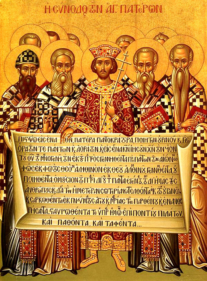 RDRD Bible Study Constantine And Bishops Nicaea Icon