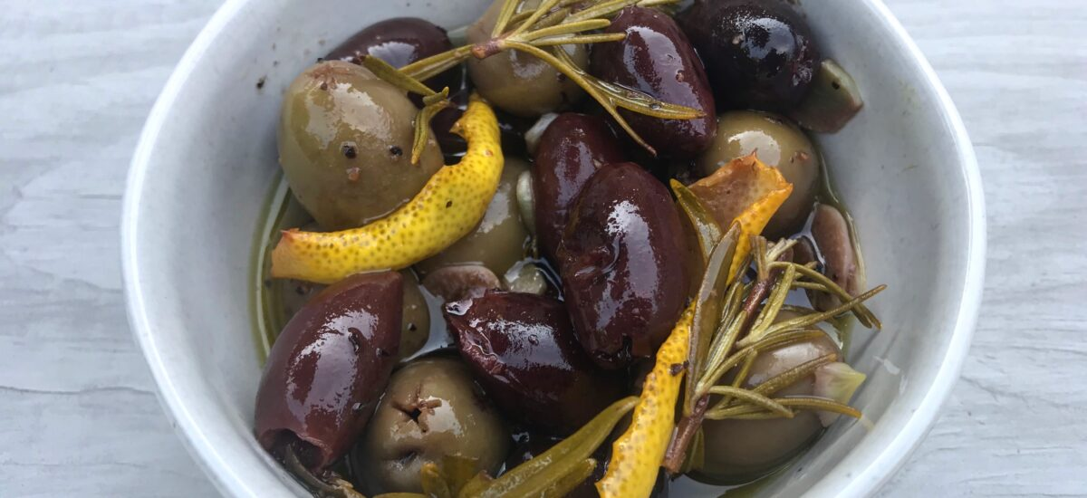 Gin Soaked Olives