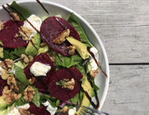 Beet and Goats Cheese Salad