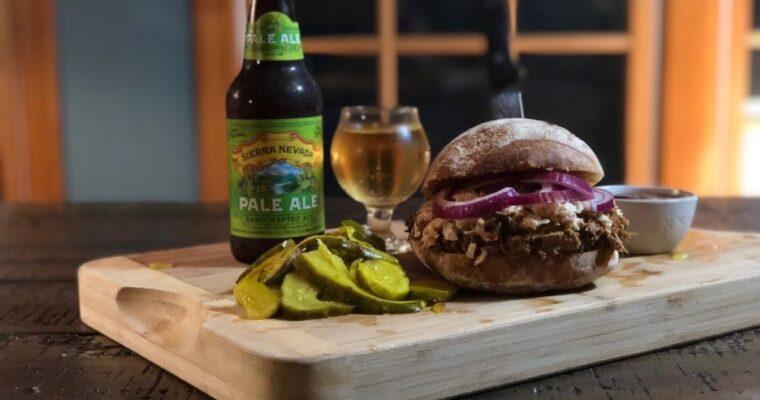 BBQ Whisky Pulled Pork Sandwich