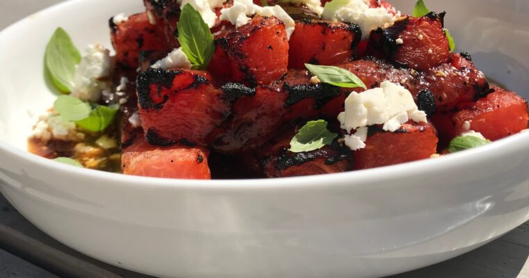 Vodka-and-Lime Soaked Grilled Watermelon
