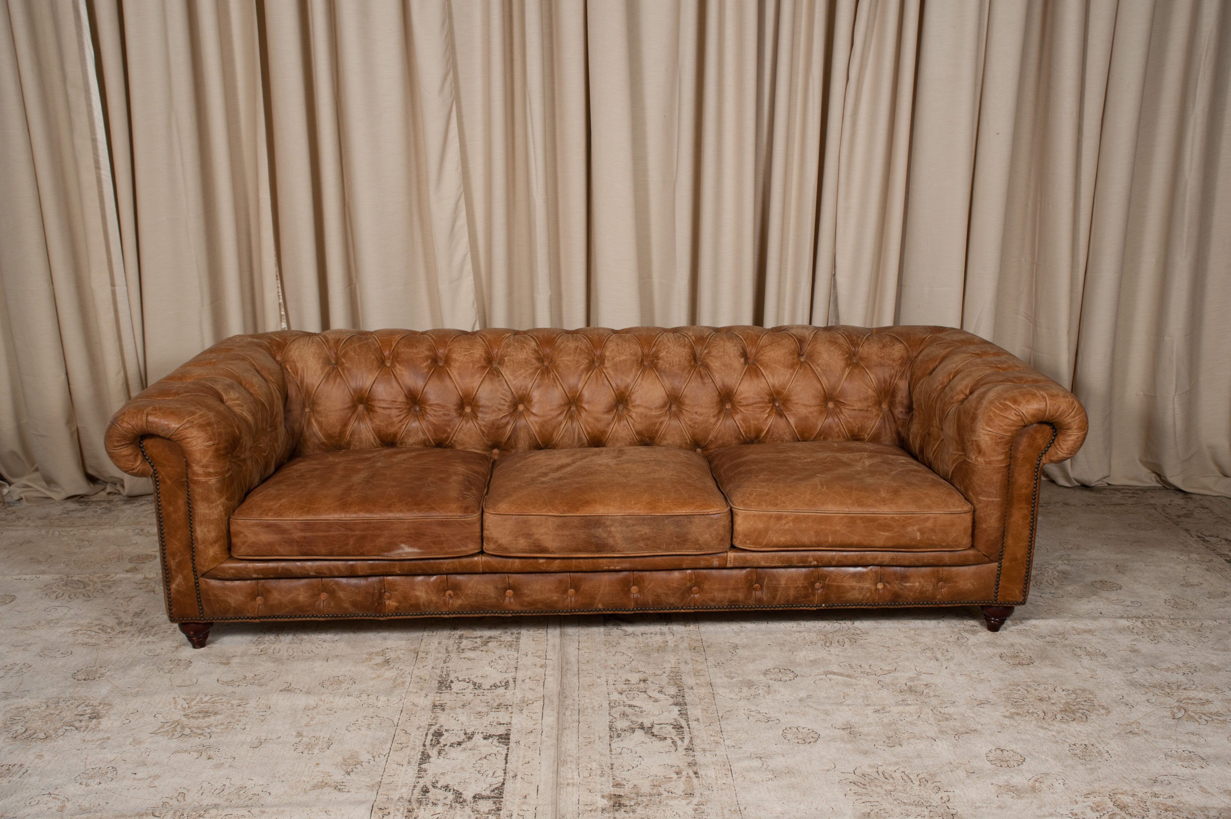 - Brown Leather Chesterfield Sofa Randal Events