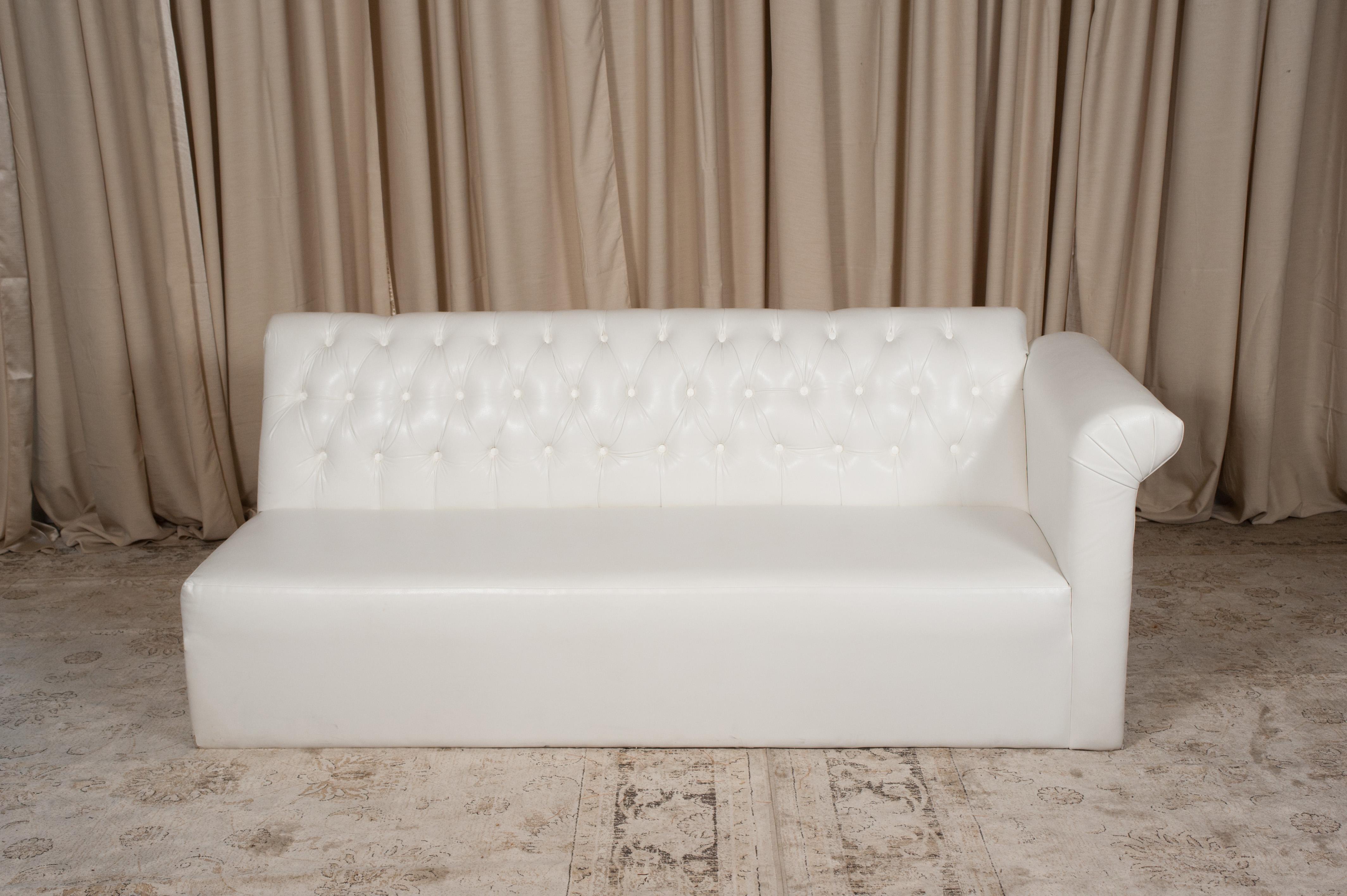 White One Arm Sofa Randal Events