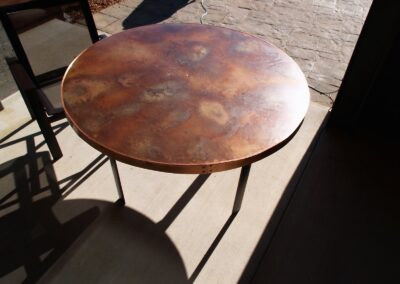 Volcanic Stainless Outdoor Table