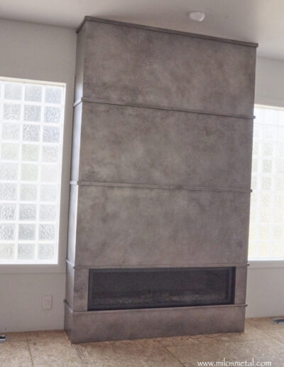 Gray Ash Fireplace