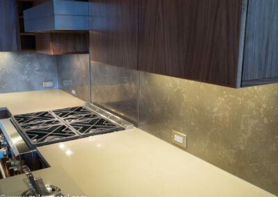 Volcanic Stainless Steel backsplash