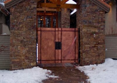 Copper entrance gates